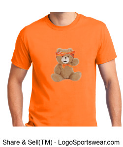 94BABY Orange Short Sleeve Shirt Design Zoom